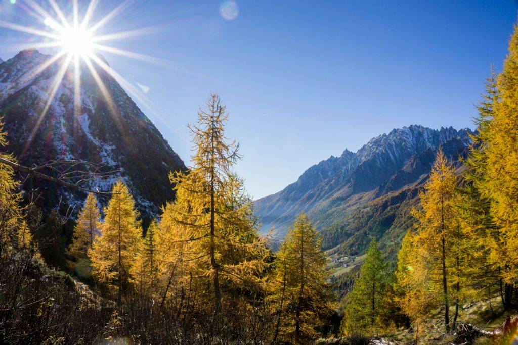 Hiking in Autumn in Italy