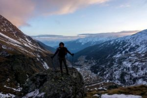 Winter hiking from Singapore to the Alps