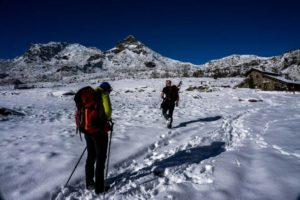 Monte Avic Hike in winter